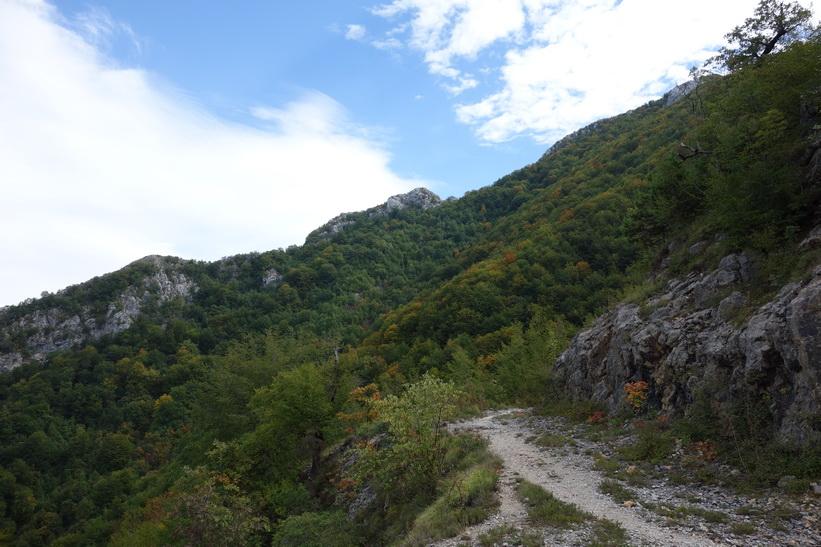 Vy från Mount Dajti.