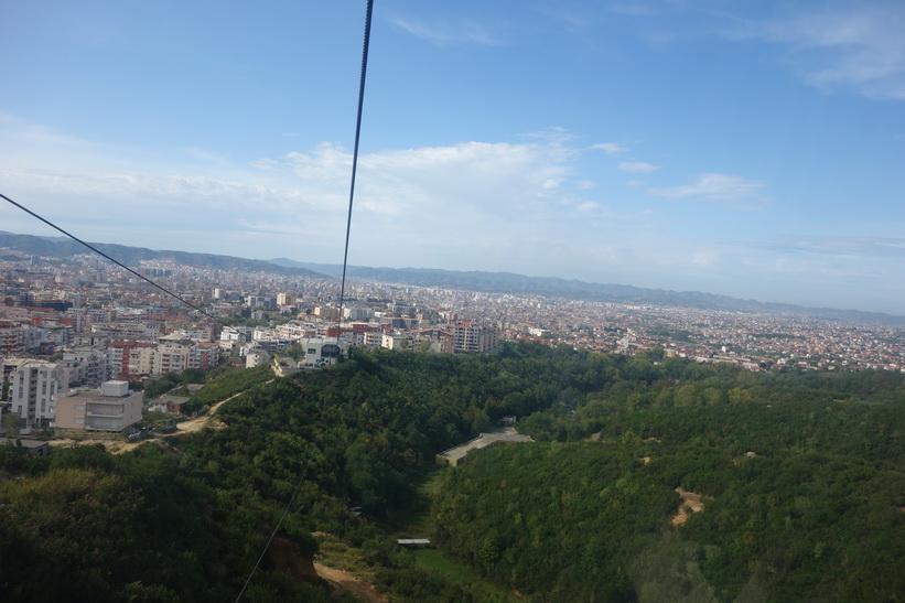 Linbanan upp till Mount Dajti, Tirana.
