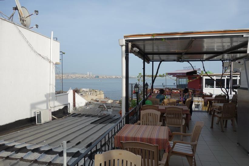 Terassen på Marmara guesthouse, Sultanahmet, Istanbul.