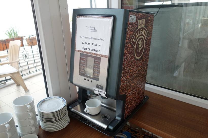 Gratis kaffe på terassen på Marmara guesthouse, Sultanahmet, Istanbul.