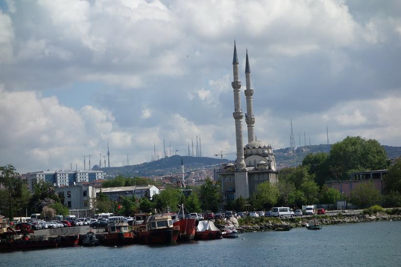 Moské på den asiatiska sidan av Istanbul.