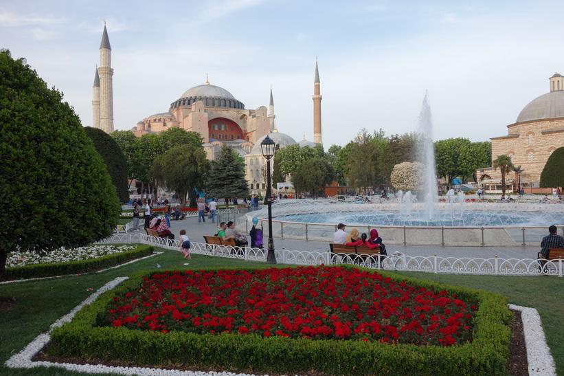 Världsberömda Hagia Sophia, Sultanahmet, Istanbul.