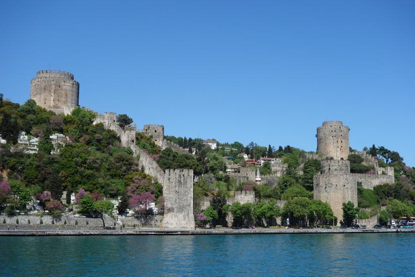 Rumelian Castle byggt mellan 1451 och 1452 av den ottomanska sultanen Mehmed II, Istanbul.