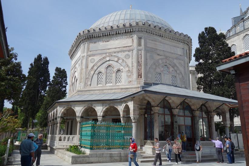 Ottomansk grav vid Süleymaniyemoskén, Istanbul.