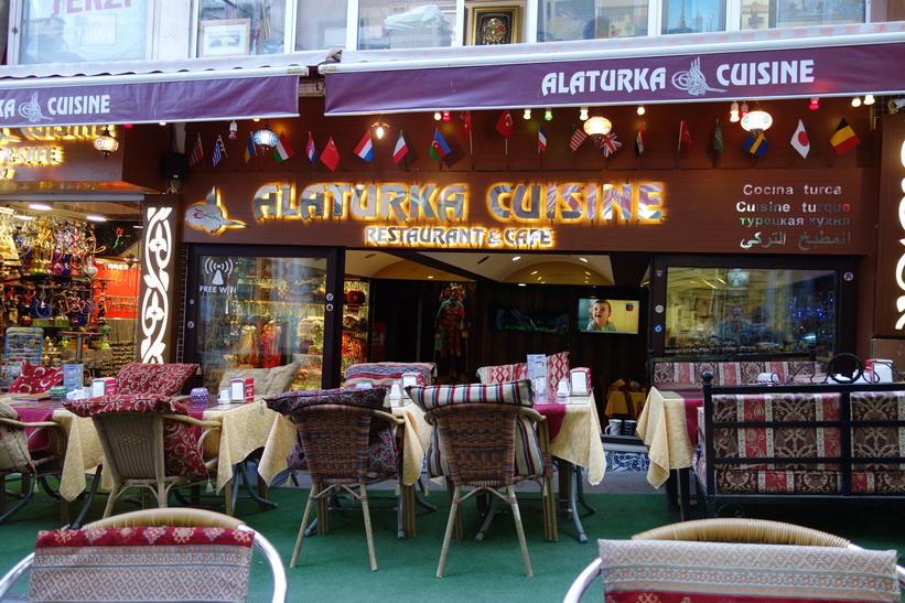 Restaurangen där jag intog min första måltid i staden, Sultanahmet, Istanbul.