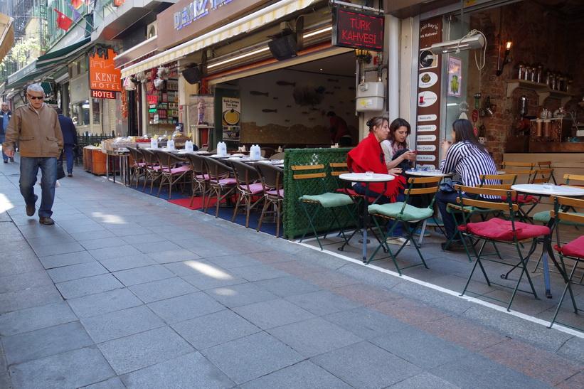 Caféer i Kadiköy, Istanbul.