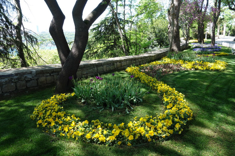 Trädgården vid Khedive Palace (Hidiv Kasri), Istanbul.