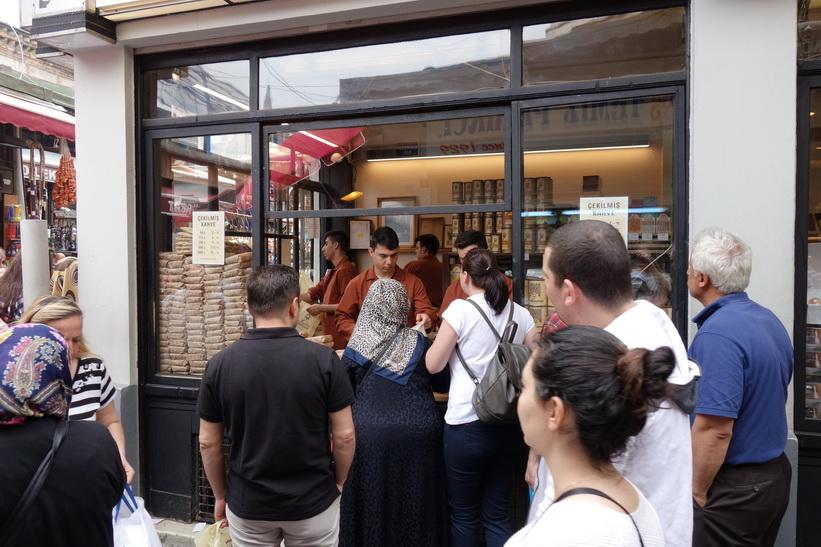 Kaffeförsäljning, Spice Bazaar, Istanbul.