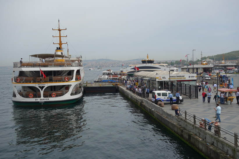 Färjeterminal Eminönü, Istanbul.