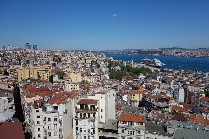Utsikten från Galata Tower, Beyoğlu, Istanbul.