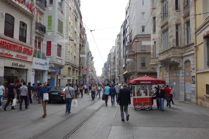 Gågatan Istiklal, Beyoglu, Istanbul.