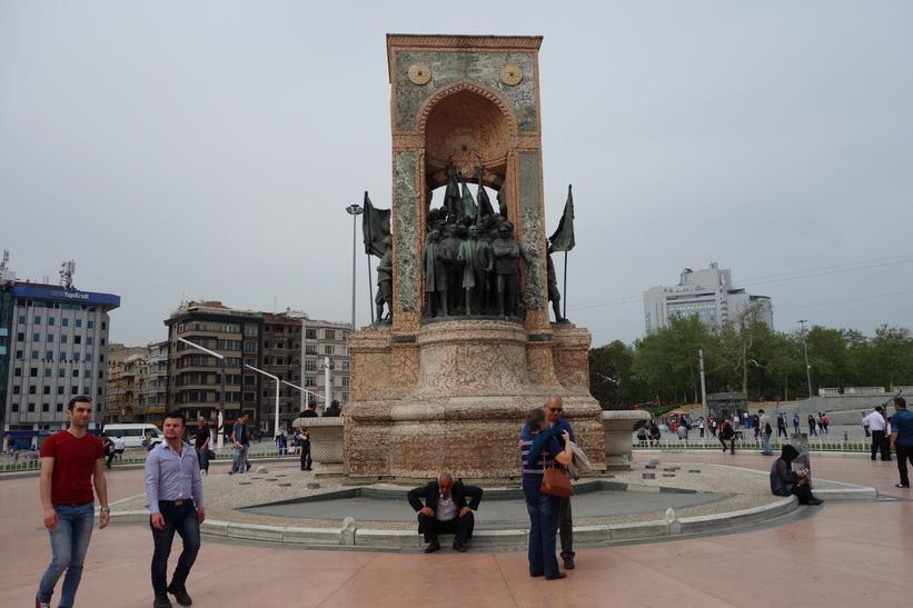 Republic Monument, Taksim-torget, Istanbul.