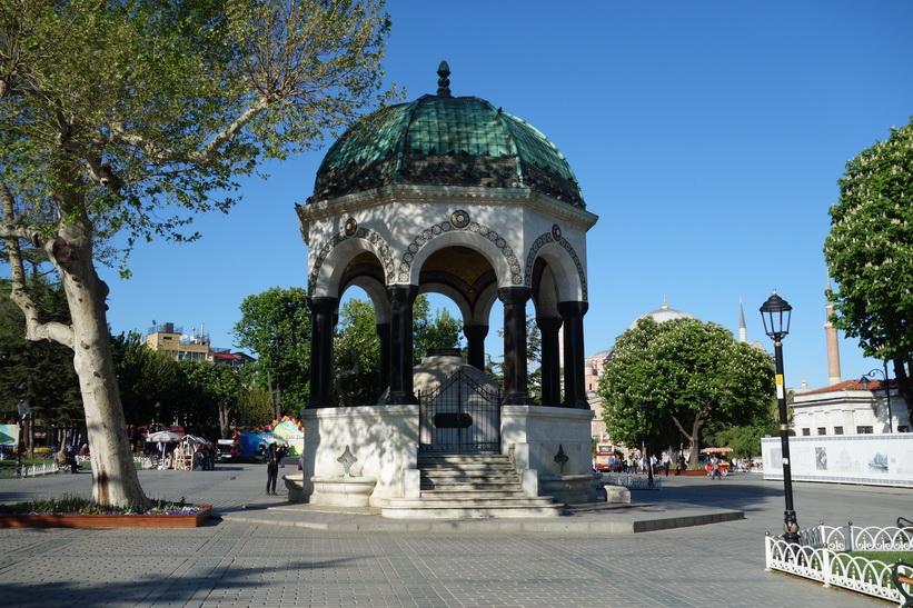 Den tyska fontänen i den norra delen av gamla Hippodromen, Istanbul.