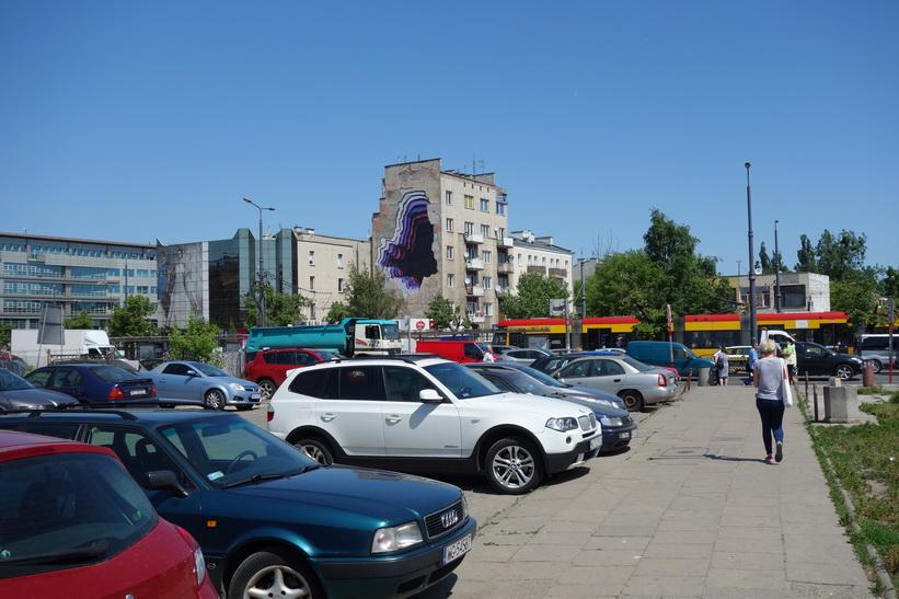 Några kvarter från mitt hotell i stadsdelen Praga, Warszawa.