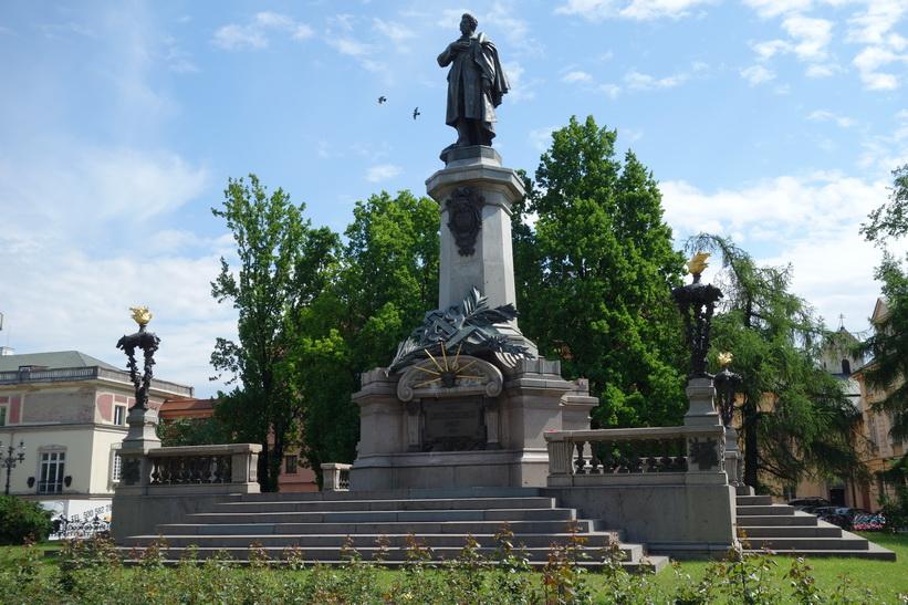 Monument to Adam Mickiewicz, Warszawa.