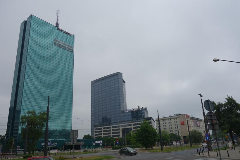 Längs gatan Marszałkowska i centrala Warszawa.