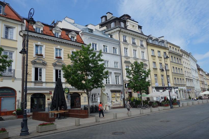 Arkitektur längs Krakowskie Przedmieście, Warszawa.