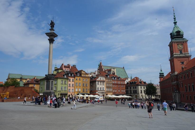 Sigismund III Vasa column, Castle Square, gamla staden i Warszawa.