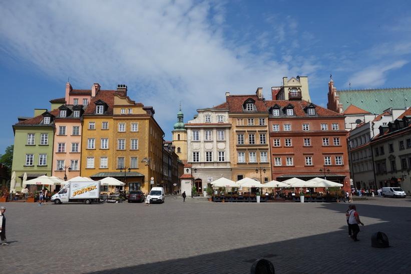 Castle Square, gamla staden i Warszawa.