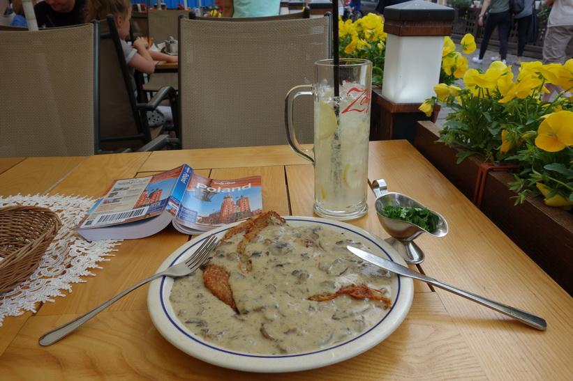 Lunch i gamla staden, Warszawa.