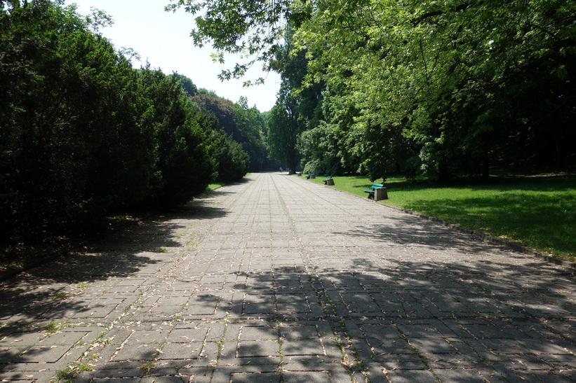 Park vid Warsaw Citadel, Warszawa.