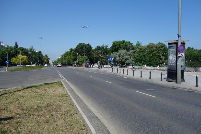 I närheten av Łazienki Park, Warszawa.