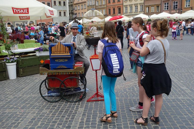 Gamla staden i Warszawa.