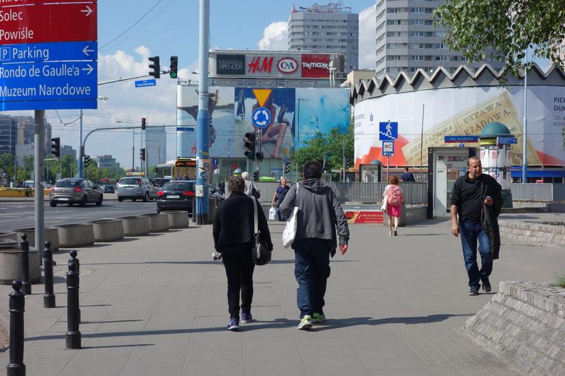 Vid gatan Aleje Jerozolimskie, Warszawa.