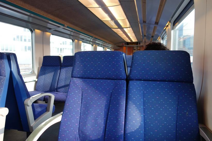 På tåget till Luxemburg city från Bryssels centralstation.