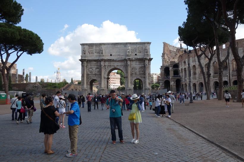 Arco di Costantino vid Colosseum, Rom.