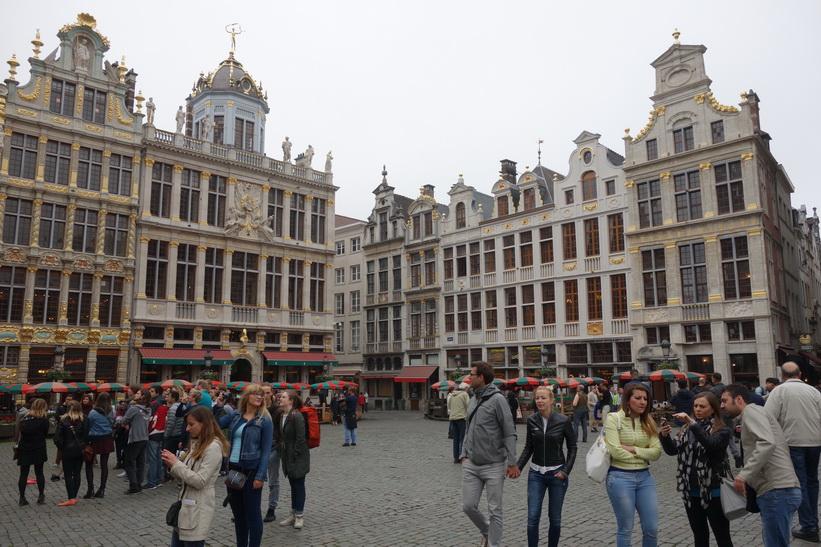 Magnifika Grand Place, Bryssel.