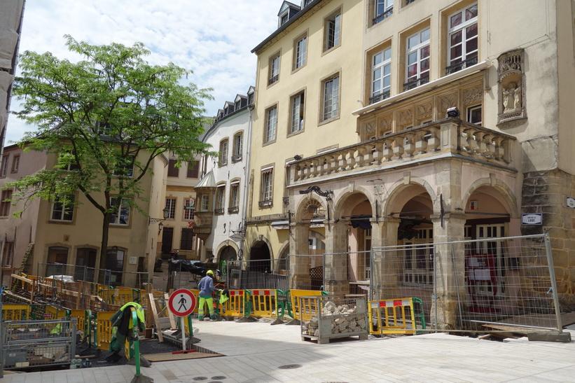 Gatuscen i Luxemburg city.