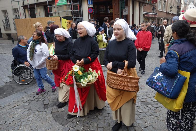 Någon form av festival i centrala Bryssel.