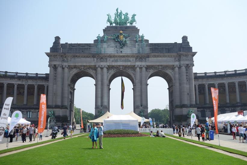 Arc du Cinquantenaire, Parc du Cinquantenaire (Jubelpark), EU-området, Bryssel.