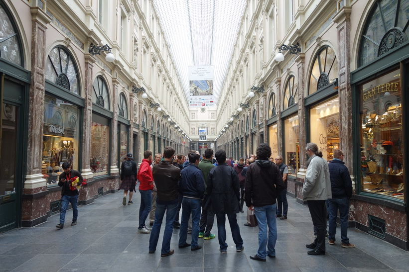 Galleria Galeries St-Hubert från 1847, centrala Bryssel.