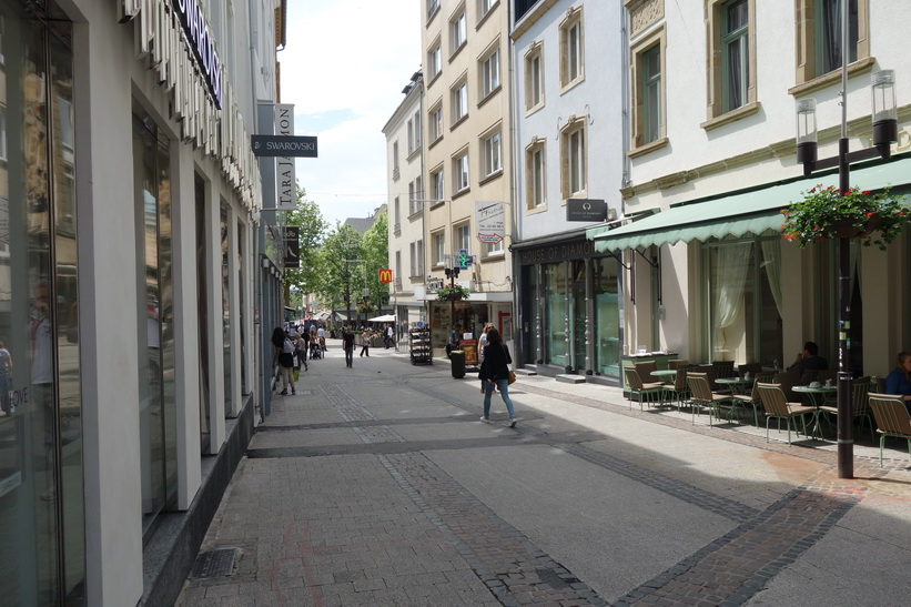 Gatan Rue des Capucins, Luxemburg ciy.