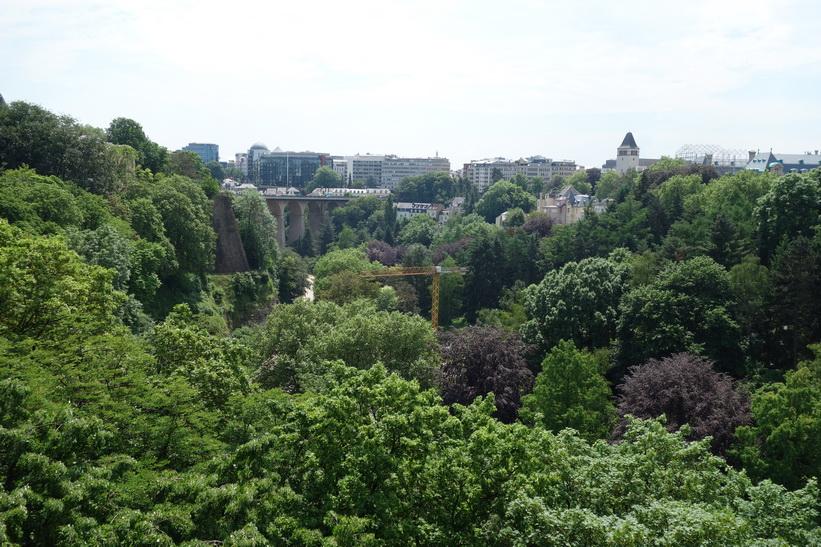Utsikten från Place de la Constitution, Luxemburg City.