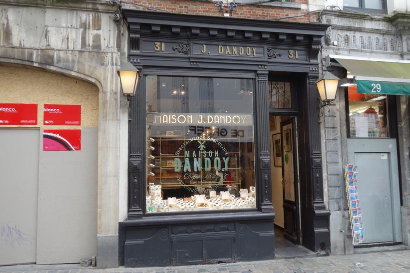 Anrika biskvi-butiken Dandoy från 1829, Bryssel.