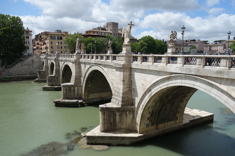 Bron Ponte Sant'Angelo, Rom.