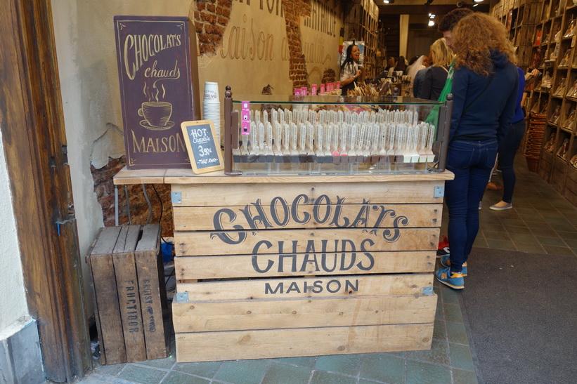 Anrika choklad-butiken Mathilde i centrala Bryssel.