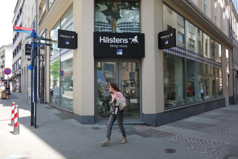 Anrika, svenska Hästens i Luxemburg city.