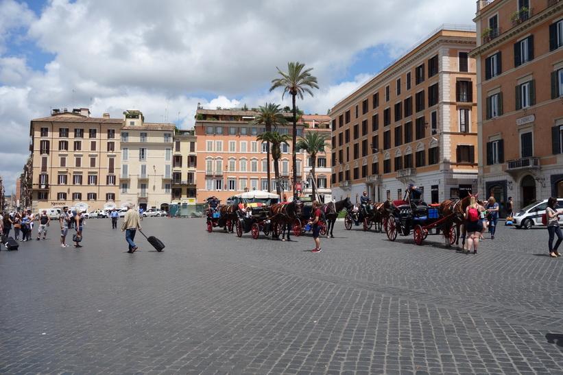 Torget Piazza di Spagna, Rom.