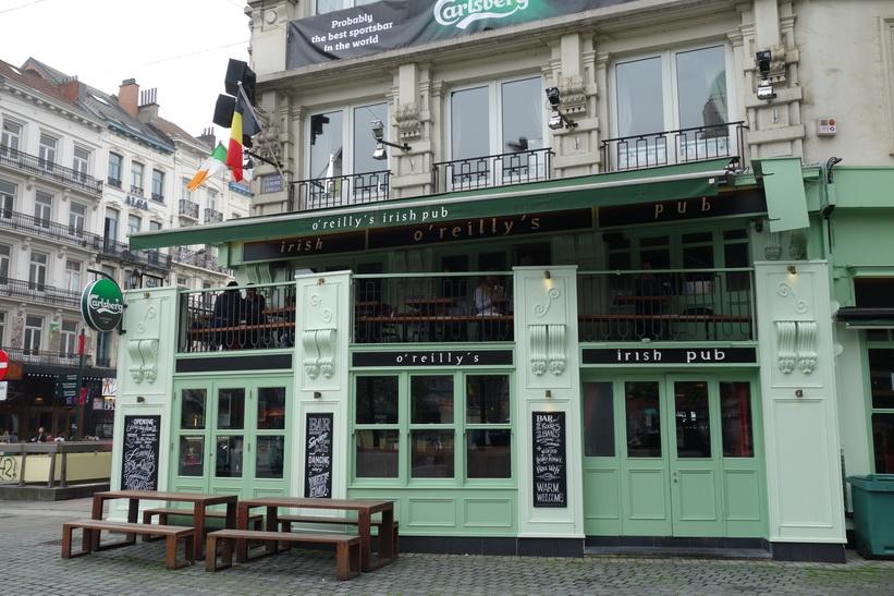 Irländsk pub i centrala Bryssel.