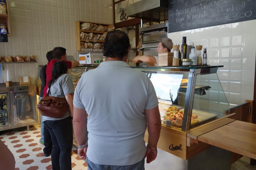 Bonci Pizzarium, Via della Meloria, Rom.