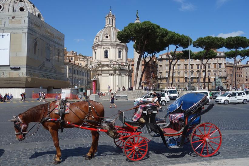 Basilica Ulpia och Trajan's Column, Rom.