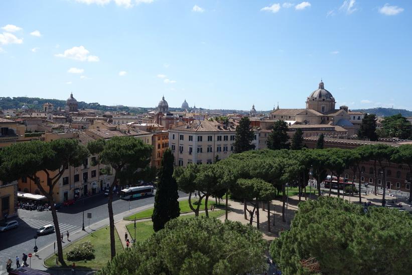 Utsikten från Altare della Patria, Rom.