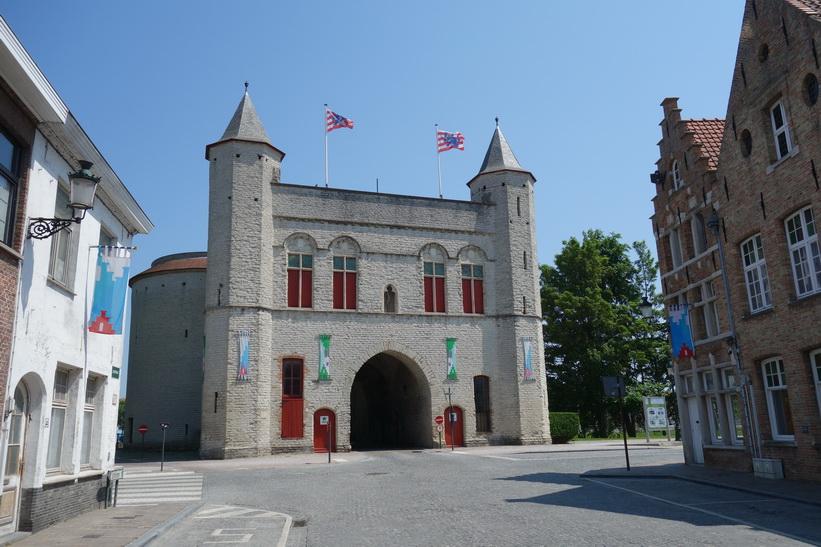 Kruis Gate, en av Brygges fyra kvarvarande stadsportar.