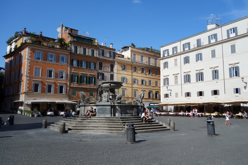 Fontana di Santa Maria in Trastevere, Rom.