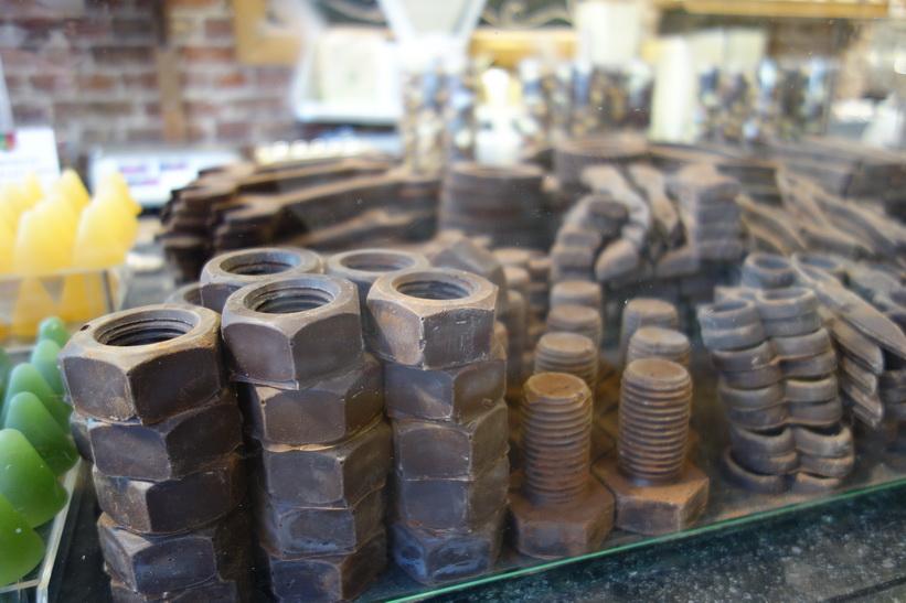 Chokladaffär i centrala Brygge.