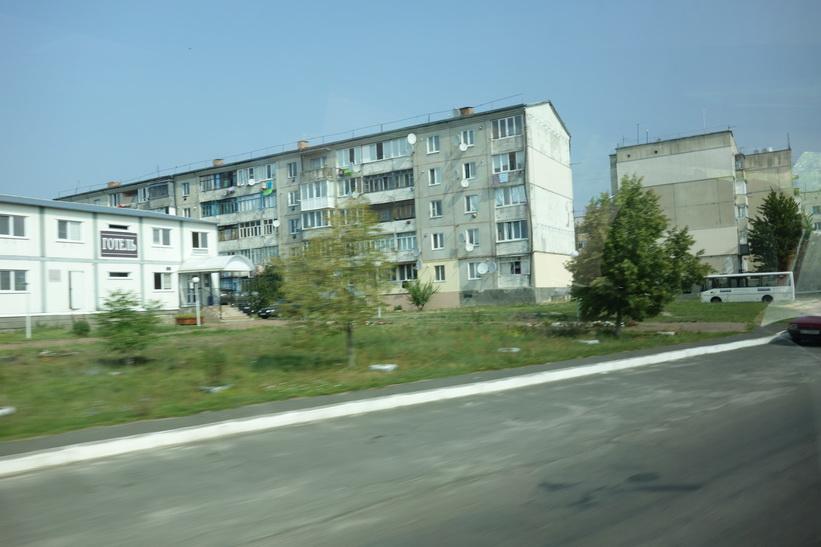 Bostadshus i samhället Ivankiv med drygt 10 000 invånare 5-6 mil söder om Tjernobyl.